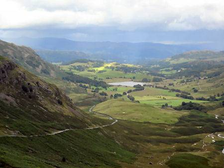 Littl Langdale from the Hardknott Pass